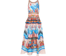 Nymph printed silk midi dress