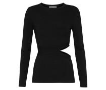 Woman Kelton Cutout Stretch-knit Top Black
