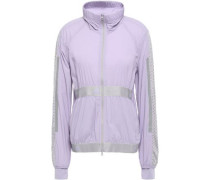 Stretch And Mesh Jacket Lilac