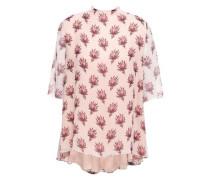 Printed Silk-georgette Blouse Pastel Pink