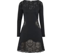 Sami Laser-cut Neoprene Dress Black Size 12