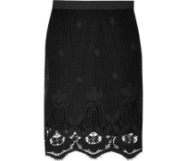 Scarlett cotton macramé lace midi skirt
