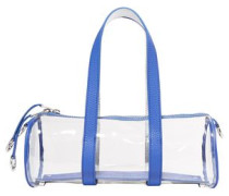 Woman Toolkit Small Leather-trimmed Pvc Tote Blue