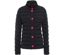 Quilted Shell Jacket Black