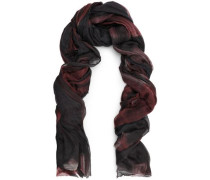 Frayed checked cashmere scarf