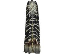 Crystal-embellished Printed Silk Crepe De Chine Maxi Dress Black Size ONESIZE