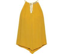 Lonnie Cutout Gauze Top Yellow