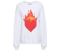 Printed Cotton-blend Sweatshirt White