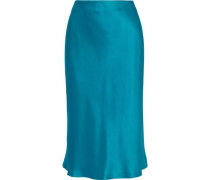 Marta Silk-satin Skirt Teal