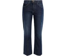 Two-tone Mid-rise Straight-leg Jeans Mid Denim
