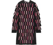 Printed silk-blend dress