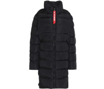 Quilted shell down jacket