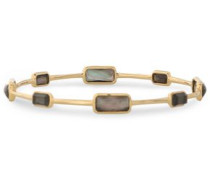 18-karat gold and stone bangle