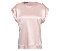 Stretch-satin Top Pastel Pink