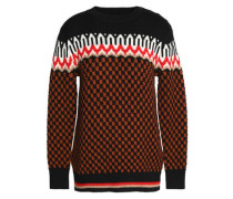 Jacquard-knit wool sweater