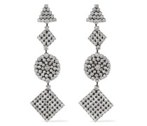Fetch Oxidized Silver-plated Crystal Earrings Silver Size --