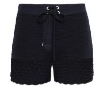 Crocheted Cotton Shorts Midnight Blue