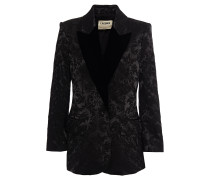 Woman Neval Satin-jacquard Blazer Black
