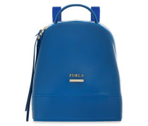 Leather-trimmed PVC backpack