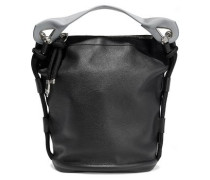 Bertha Large two-tone textured-leather bucket bag