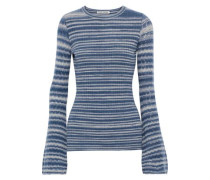 Striped Cashmere Sweater Blue