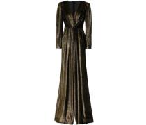Wrap-effect Devoré-velvet Gown Bronze