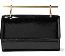 Patent-leather clutch bag