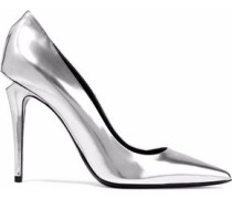 Metallic Patent-leather Pumps Silver