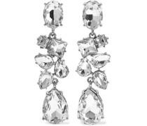 Silver-tone Crystal Earrings Silver Size --