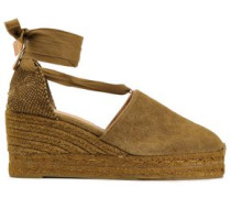 Campesina Cotton-canvas Wedge Espadrilles Army Green