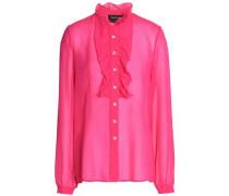 Ruffled silk-chiffon shirt