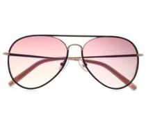 Aviator-style Tortoiseshell Acetate And Gold-tone Sunglasses Violet Size --