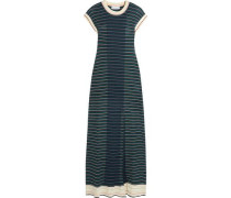 Striped cotton-blend maxi dress