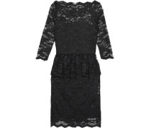 Ruffled lace peplum dress