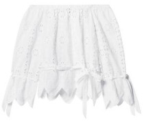 Aurelia Off-the-shoulder Scalloped Broderie Anglaise Cotton Top White