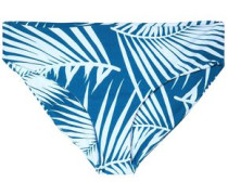 Low-rise two-tone printed bikin briefs