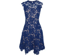 Guipure Lace Mini Dress Cobalt Blue