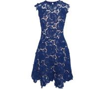 Fjola Guipure Lace Mini Dress Royal Blue