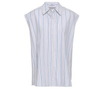 Striped Cotton Shirt White