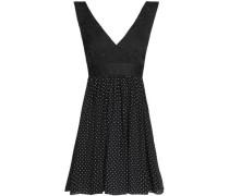 Open-back jacquard and printed silk-blend crepe de chine mini dress