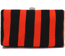 Striped knitted clutch