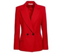 Wool-blend Twill Blazer Crimson