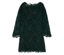 Silk guipure lace mini dress