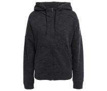 Logo-print Cotton-blend Jersey Hoodie Charcoal