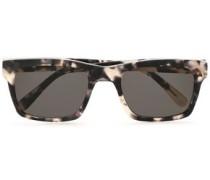 Square-frame Tortoiseshell Acetate Sunglasses Dark Gray Size --
