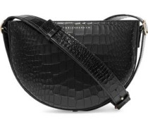 Baby Half Moon croc-effect leather shoulder bag