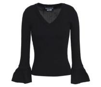 Ribbed-knit wool top
