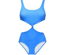 Cutout knotted swimsuit