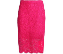 Cotton-blend corded lace skirt