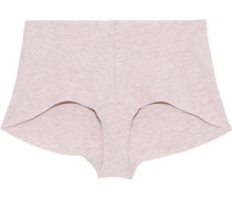 Mélange Stretch-cotton Mid-rise Briefs Neutral  /M